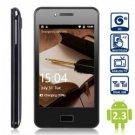 "free ship unlocked BLACK 4"" unlocked android 2.3 phone Smart Phone 3G dual sim1ghz 4GB"