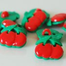 10 Cherry Shaped Sewing Buttons