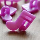 10 Purple Musical Note Sewing Buttons