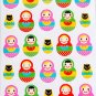 Kawaii Matryoshka Doll Sticker Sheet - From Japan