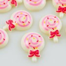 6 Kawaii White Lollipop Flatbacks