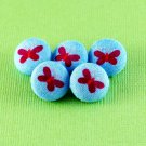 Small Purple Butterfly Buttons