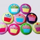 Large Cupcake Buttons