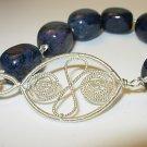Dumortierite & Silver Bracelet