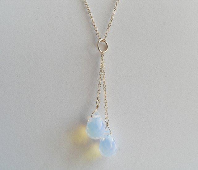 Sea Opal Dangles Necklace