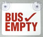 Bus Empty Sign