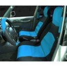 Neoprene Seat Cover Set in Black and Blue