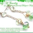 ''SIMPLE GREEN CHARMING'' Swarovski Earrings