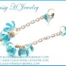 ''SIMPLE BLUE CHARMING'' Swarovski Earrings