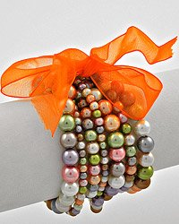 Multi Colored Pearls Stackable Stretch Bracelet