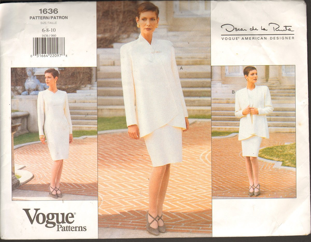 Oscar de la Renta Vogue American Designer Vogue Pattern 1636 size 06 08 10 uncut