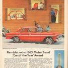 Rambler wins 1963 Motor Trend Car of the Year Vintage AD Magazine Ad