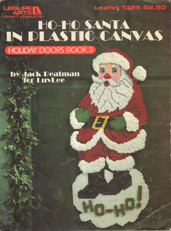Ho Ho Santa in Plastic Canvas Vintage Craft Book 1991