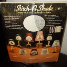 Vintage Cross Stitch Kit to make a Lamp Shade Wood World Inc 1985 make a 3x6x6 Scalloped