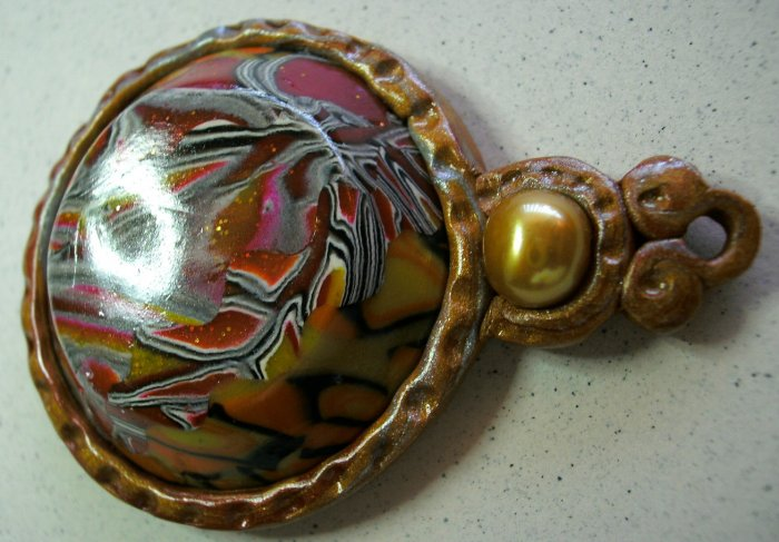 Supplies, Cabochon, Latin Inspired, Pearl, Gold