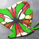 Polymer Clay Pendant, Butterfly, Spring