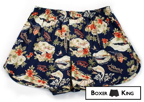 Men boxer with hawaiian pattern