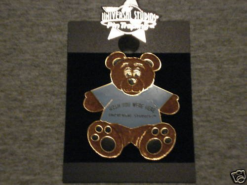 Wish You Were Here Universal Studios Bear Pin