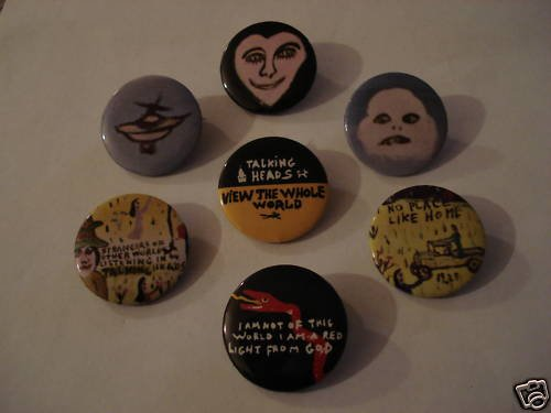 "Talking Heads ""Little Creatures"" Set of 7 Tour Buttons"