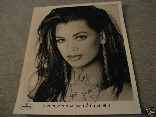 Vanessa Williams Autographed Mercury 8x10 Promo Photo