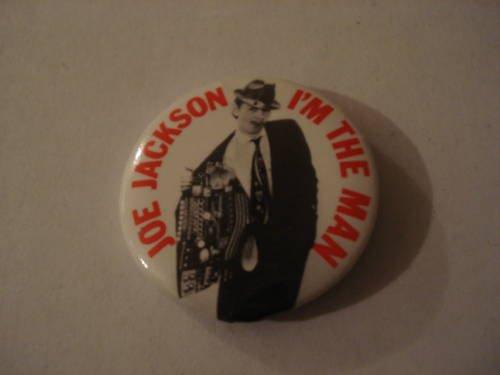 Joe Jackson I'm The Man Collectors Button 1979