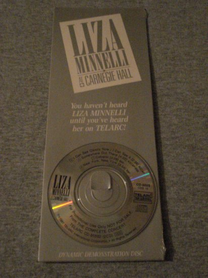 Liza Minnelli At Carnegie Hall Very Rare 3 Inch CD
