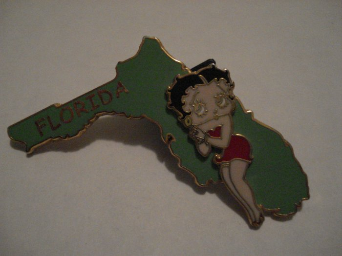 Betty Boop On State Of Florida Pin- Universal