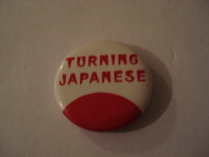 Original The Vapors Turning Japanese Collectors Button