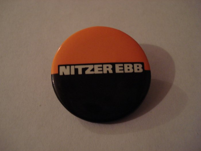 Nitzer Ebb Collectors Button 1989