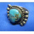 1970's Sterling Silver Turquoise Ring