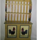 Older...Country Theme with Chickens CURIO CABINET