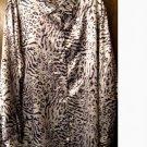 NWOT....Silver...Animal Print Blouse...Size 3X