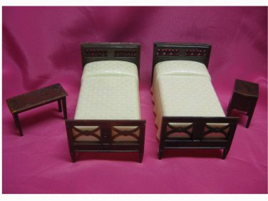 Vintage - 1940's - Renwal Beds, Night Stand and Bench