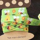 1.6cm x 5 Yards - kawaii Cotton Woven Jacquard Trim Ribbon - Little Bees