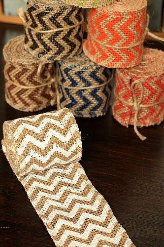6cm x 2 Yards - Burlap Decor Wide Linen Ribbon Roll