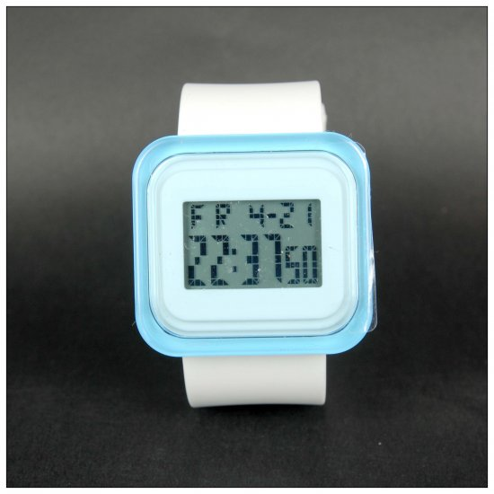 White x Blue Fashion Digital Watch
