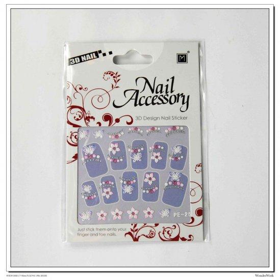 3D Accessory Rubber Art ~ Nail Sticker (NS4)