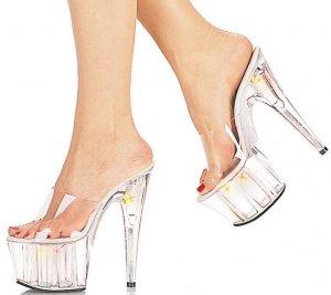 Multilite - Women's Platform Heel with Lights in Platform and Heel -Size 7