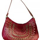 Handbags with Front Studs and Grommets Design