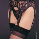 Lingerie Lace Garter Belt with Matching Thong Set One Size & Plus Size