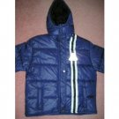 Girls Quilted Lined Coat Jacket With Removal Hood-Sz M