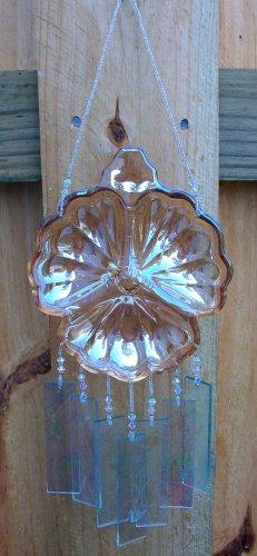 Carnival Glass Clover Windchime, Wind Chime