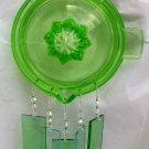 Green Depression Glass Juicer Windchime