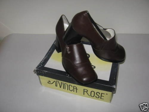 Vinca Rose Ladies Dress Brown Shoes Size 6