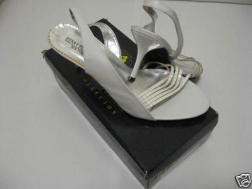 Henry Ferrera White Ladies Dress Shoes Size 11