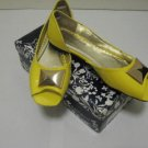 Ladies Yellow Casual FLat Shoes by Bamboo, Size 6