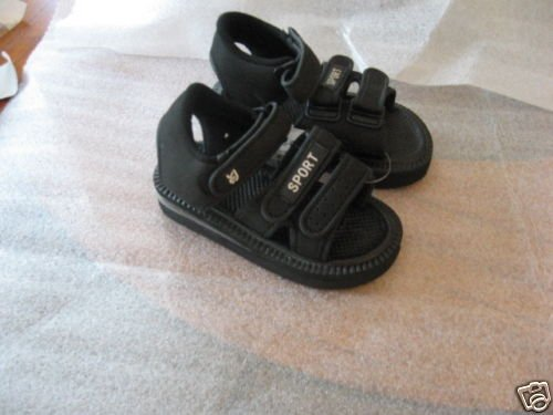 Boys' Black Sport Sandals, New - Sizes 1 to 3