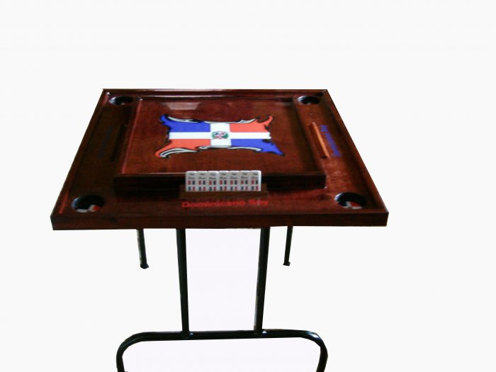 Republica Dominicana DominoTable With the flag (Dark)