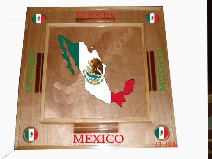 Mexico Domino Table with the Map