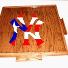 New york yankee Domino table top With Puerto flag (dark)